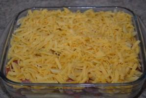 Макароны с сосиской в духовке - фото шаг 8
