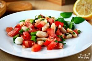 Салат с белой фасолью - фото шаг 9