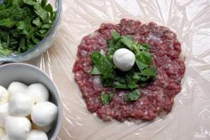 Мясные шарики с моцареллой в томатном соусе - фото шаг 4