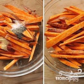 Сладкий картофель-фри - фото шаг 3