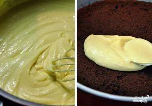 Шоколадный торт с заварным кремом - фото шаг 8