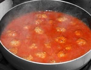 Тефтели под томатным соусом - фото шаг 9