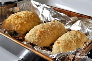 Куриная грудка с грибами в духовке - фото шаг 3
