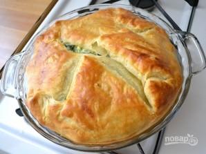 Простой слоеный пирог со шпинатом - фото шаг 10