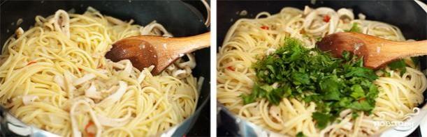 Спагетти с кальмарами - фото шаг 5