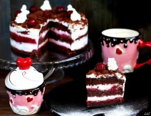 Вишневый торт - фото шаг 7