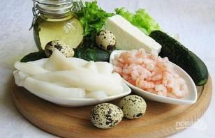 Салат из креветок и кальмаров - фото шаг 1