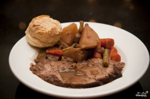 Говядина с овощами и картофелем - фото шаг 7