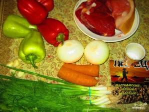 Фаршированный болгарский перец в духовке - фото шаг 1
