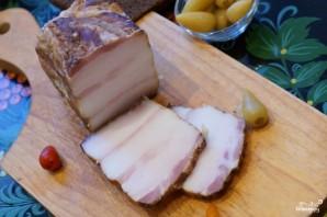 Молодая картошка, запеченная в духовке с салом - фото шаг 2