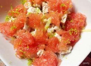 Салат с грейпфрутом и курицей - фото шаг 5