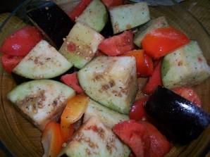 Запеченные овощи в фольге - фото шаг 3