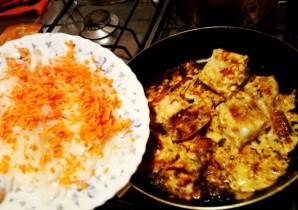 Тушеная рыба с рисом - фото шаг 4
