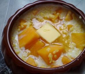 Каша из тыквы в духовке - фото шаг 3