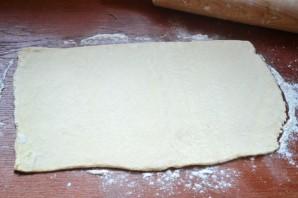 Пирог с начинкой из сыра и ветчины - фото шаг 4