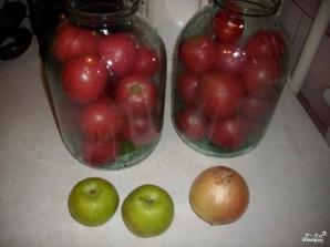 Маринованные помидоры с яблоками - фото шаг 2