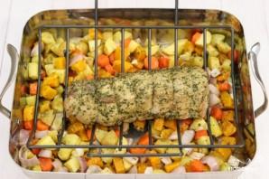 Овощи со свининой в духовке - фото шаг 3