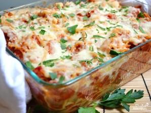 Запеченные спагетти с сосисками - фото шаг 11