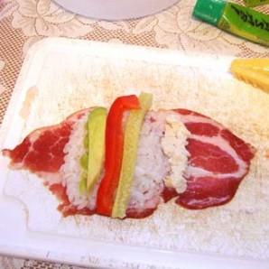 Мясные суши - фото шаг 4