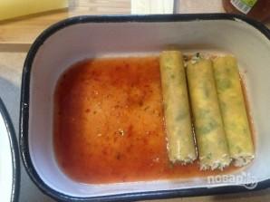 Каннеллони с тунцом в помидорном соусе - фото шаг 5