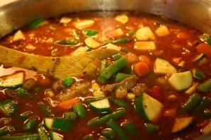 Летний суп с мясом - фото шаг 8