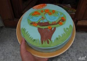 Детский торт с мастикой своими руками - фото шаг 7