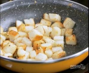 Хрустящий суп из картофеля с сухариками - фото шаг 9