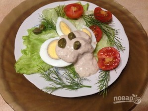 "Яйца под соусом ""Тоннато"" - фото шаг 5"