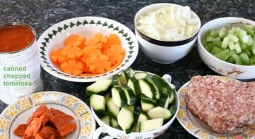 Быстрый овощной суп со свининой - фото шаг 3