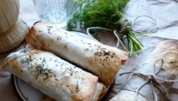Сосиски в лаваше в духовке - фото шаг 3