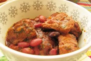 Мясо с фасолью консервированной - фото шаг 10