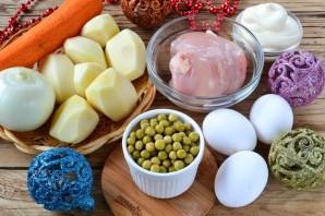 Праздничный мясной салат - фото шаг 1