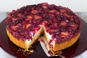 Пирог с творогом и сливами - фото шаг 4