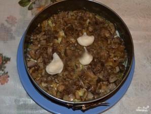 Салат с копченой курицей и грибами слоями - фото шаг 3
