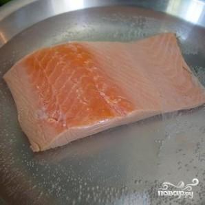 Лапша соба с лососем и кресс-салатом - фото шаг 1