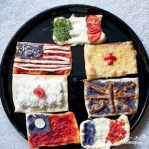 Пицца в виде флагов - фото шаг 12