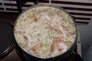 Белый суп с морепродуктами - фото шаг 8