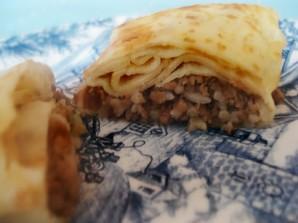 Блинчики с грибами и рисом  - фото шаг 5