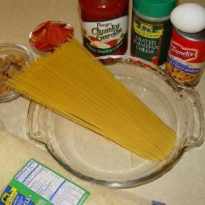 Пирог из спагетти - фото шаг 1