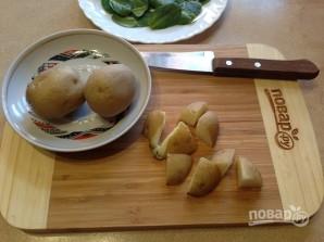 Теплый салат со шпинатом - фото шаг 2