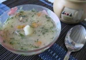 Суп куриный с плавленым сыром - фото шаг 5