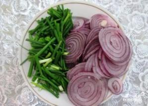 Салат с вешенками и курицей - фото шаг 5