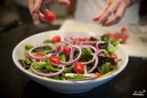 Салат с жареным мясом - фото шаг 3