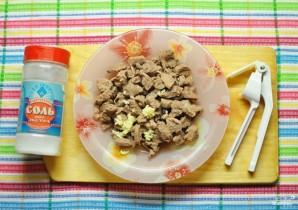 Салат с говядиной и корейской морковкой - фото шаг 4