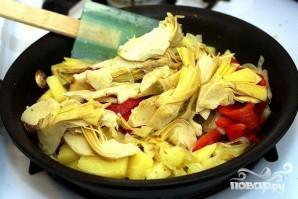 Картофельная запеканка с артишоками - фото шаг 2