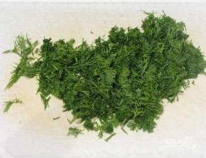 Салат с красной фасолью и сухариками - фото шаг 4