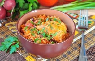 Курица с рисом и фасолью - фото шаг 9