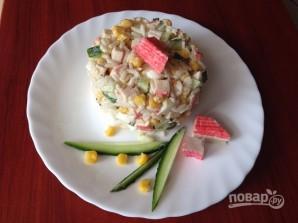 Крабовый салат с рисом - фото шаг 7