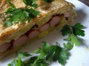 Пирог с сосиской и картошкой - фото шаг 4