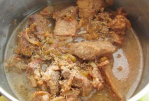 Мясо с фасолью консервированной - фото шаг 6